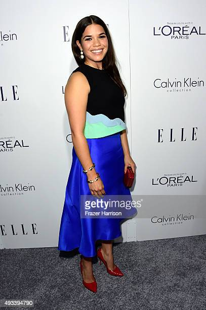 Actress America Ferrera attends the 22nd Annual ELLE Women in Hollywood Awards presented by Calvin Klein Collection L'Oréal Paris and David Yurman at...