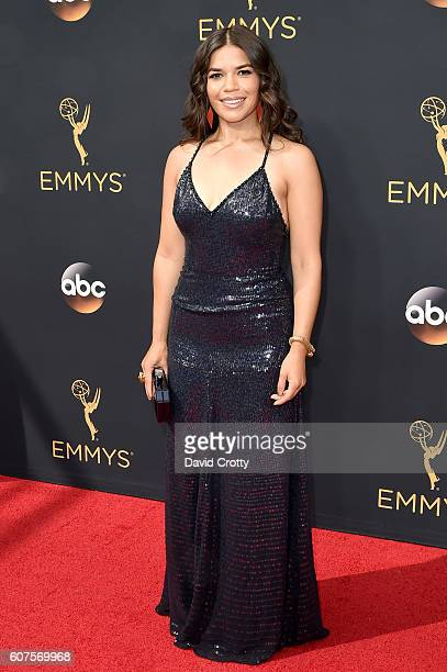 Actress America Ferrera attends the 68th Annual Primetime Emmy Awards at Microsoft Theater on September 18 2016 in Los Angeles California