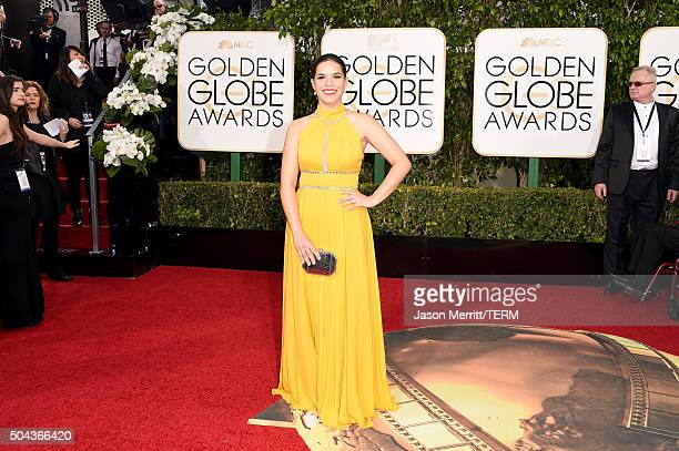 Actress America Ferrera attends the 73rd Annual Golden Globe Awards held at the Beverly Hilton Hotel on January 10 2016 in Beverly Hills California