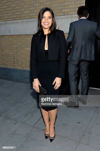 Actress America Ferrera attends the Apple Store Soho Presents Ryan Piers Williams America Ferrera and Jon Paul Phillips 'X/Y' during the 2014 Tribeca...