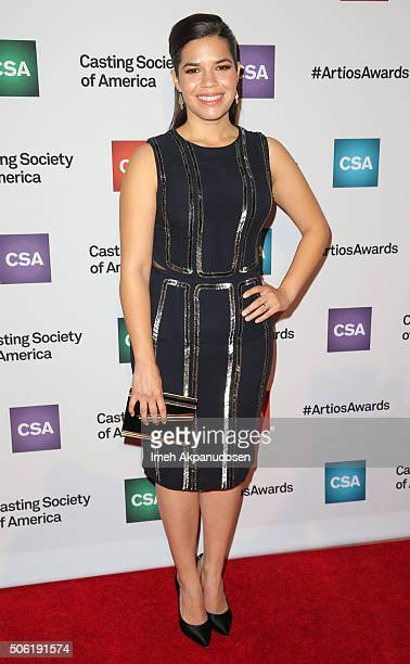 Actress America Ferrera attends the Casting Society Of America's 31st Annual Artios Awards at The Beverly Hilton Hotel on January 21 2016 in Beverly...