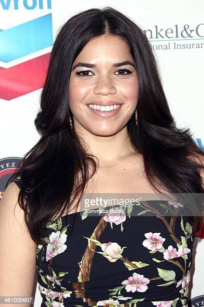 Actress America Ferrera attends the Cesar Chavez Foundation's 2014 Legacy Awards Dinner held at the Millennium Biltmore Hotel on March 27 2014 in Los...