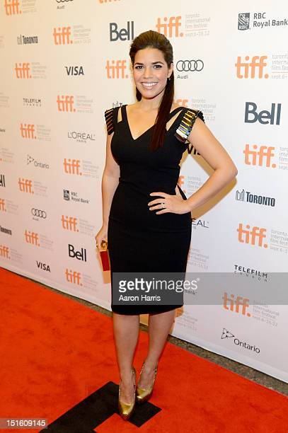 Actress America Ferrera attends the End Of Watch premiere during the 2012 Toronto International Film Festival at Princess of Wales Theatre on...