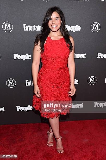 Actress America Ferrera attends the Entertainment Weekly People Upfronts party 2016 at Cedar Lake on May 16 2016 in New York City
