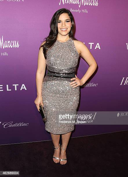 Actress America Ferrera attends The Hollywood Reporter's Annual Oscar Nominees Night Party at Spago on February 2 2015 in Beverly Hills California