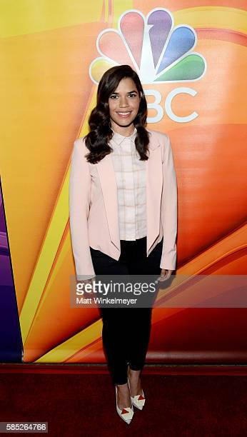 Actress America Ferrera attends the NBCUniversal press day during the 2016 Summer TCA Tour at The Beverly Hilton Hotel on August 2 2016 in Beverly...