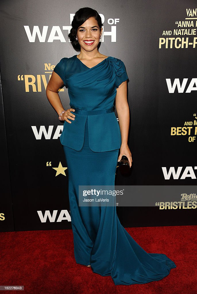 Actress America Ferrera attends the premiere of 'End of Watch' at Regal Cinemas L.A. Live on September 17, 2012 in Los Angeles, California.