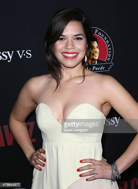 Actress America Ferrera attends the premiere of Pantelion Films and Participant Media's 'Cesar Chavez' at TCL Chinese Theatre on March 20 2014 in...