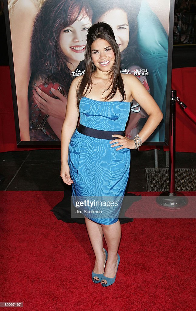 Actress America Ferrera attends the premiere of 'The Sisterhood of the Traveling Pants 2' at the Ziegfeld Theatre on July 28, 2008 in New York City.