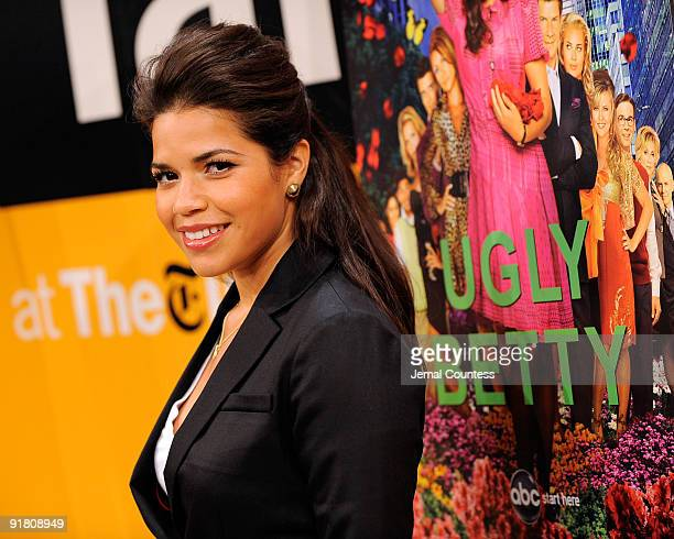 Actress America Ferrera attends TimesTalks An Evening With Ugly Betty at TheTimesCenter on October 12 2009 in New York City
