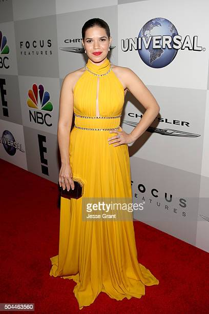 Actress America Ferrera attends Universal NBC Focus Features and E Entertainment Golden Globe Awards After Party sponsored by Chrysler at The Beverly...