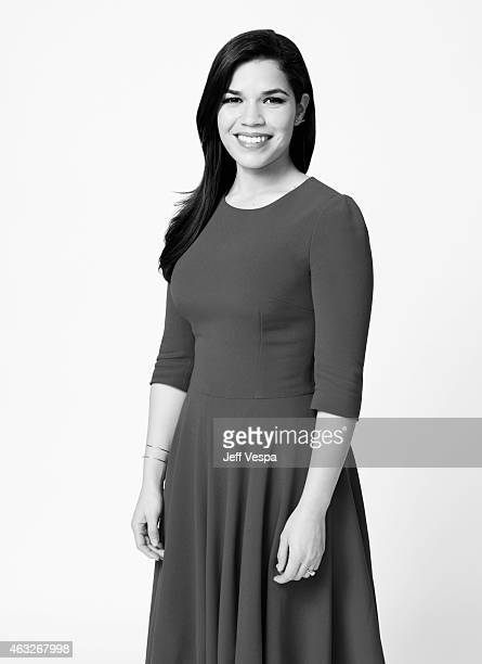 Actress America Ferrera poses for a portraits at the 87th Academy Awards Nominee Luncheon at the Beverly Hilton Hotel on February 2 2015 in Beverly...