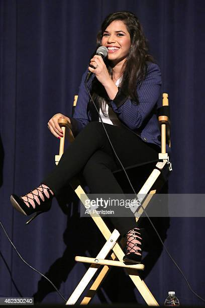 Actress America Ferrera speaks at How To Train Your Dragon 2 Special Screening And QA at Harmony Gold Theatre on January 26 2015 in Los Angeles...