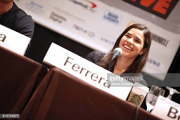 Actress America Ferrera speaks onstage at 'Silent Beast: US Latinos Will Change Everything' during the 2016 SXSW Music, Film + Interactive Festival...