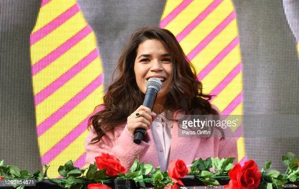Actress America Ferrera speaks onstage during Joy To The Polls at Lucky Shoals Park on December 19, 2020 in Norcross, Georgia.