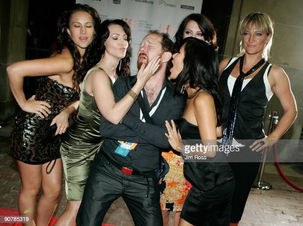 Actress America Olivo actress Erin Cummings TIFF programmer Colin Geddies actress Minae Noji actress Julia Voth and actress Zoe Bell arrive at the...