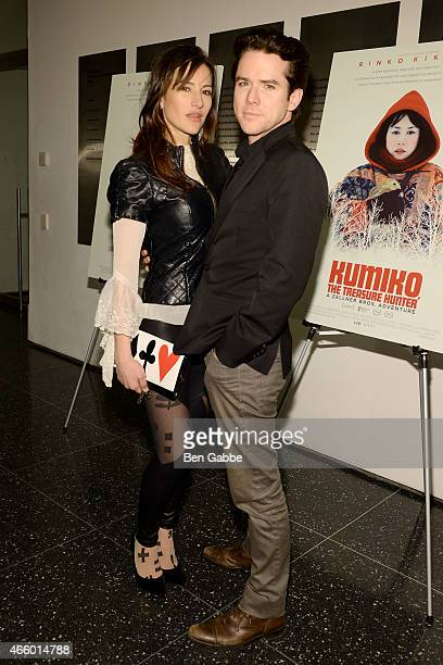 Actress America Olivo and actor Christian Campbell attend Amplify Releasing with The Cinema Society host a Screening Of 'Kumiko The Treasure Hunter'...