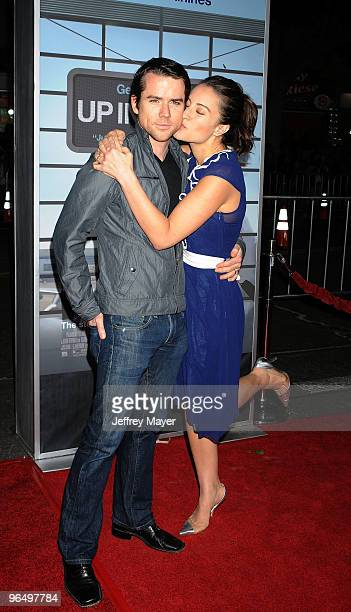 Actress America Olivo and husband Christian Campbell arrive at the 'Up In The Air' Los Angeles Premiere at Mann Village Theatre on November 30 2009...