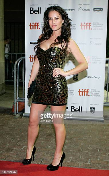 Actress America Olivo arrives at the 'Bitch Slap' screening during the 2009 Toronto International Film Festival held at Ryerson Theatre on September...
