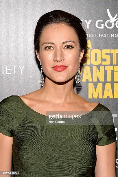 Actress America Olivo attends Lionsgate and Roadside Attraction's premiere of 'A Most Wanted Man' hosted by The Cinema Society and Montblanc at...