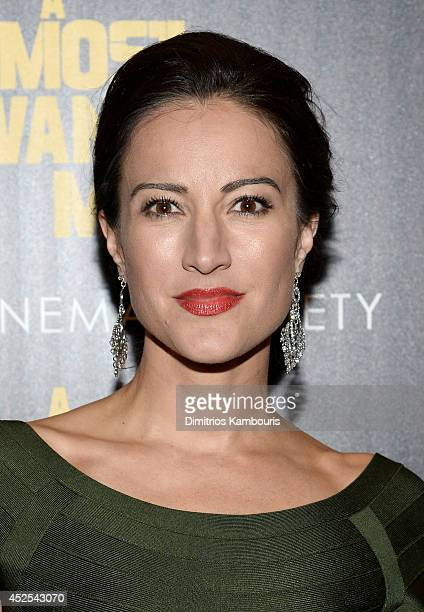 Actress America Olivo attends Lionsgate and Roadside Attraction's premiere of 'A Most Wanted Man' hosted by The Cinema Society and Montblanc at the...