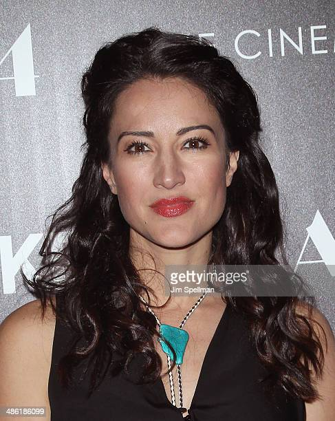 Actress America Olivo attends the A24 and The Cinema Society premiere of 'Locke' at The Paley Center for Media on April 22 2014 in New York City
