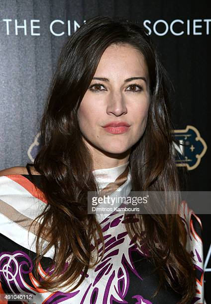 Actress America Olivo attends the BAFTA New York The Cinema Society With FIJI Water StGermain party for the New York Film Festival at PHD Terrace at...