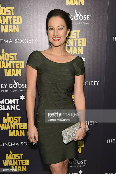 Actress America Olivo attends The Cinema Society and Montblanc premiere of Lionsgate and Roadside Attractions' 'A Most Wanted Man' at the Museum of...
