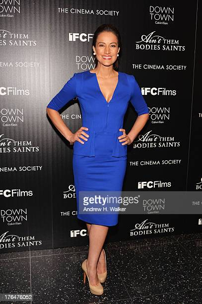 Actress America Olivo attends the Downtown Calvin Klein with The Cinema Society screening of IFC Films' 'Ain't Them Bodies Saints' at the Museum of...