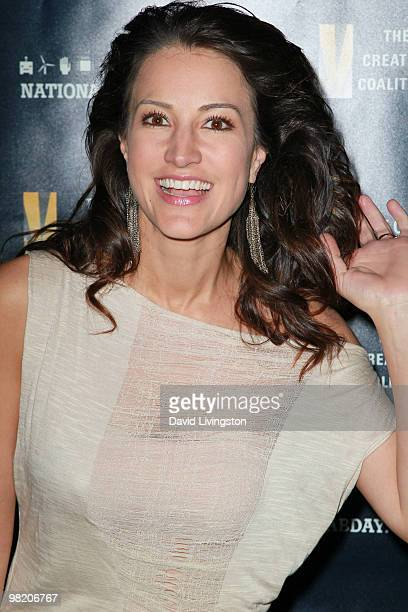 Actress America Olivo attends the National Lab Day KickOff Dinner at the Luxe Hotel on April 1 2010 in Los Angeles California