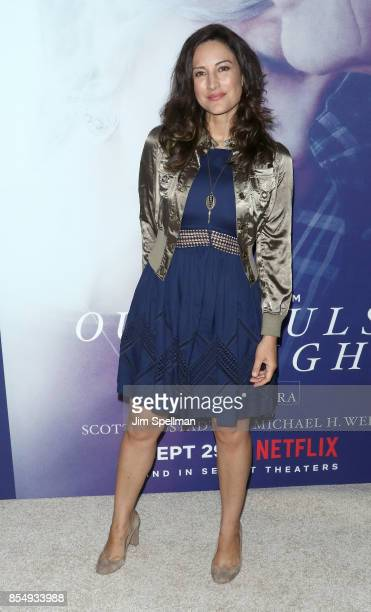 Actress America Olivo attends the New York premiere of 'Our Souls at Night' hosted by Netflix at The Museum of Modern Art on September 27 2017 in New...
