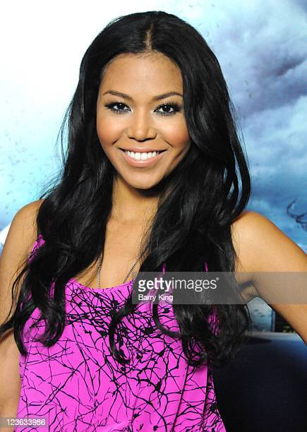Actress Amerie arrives for the 'Skyline' Los Angeles Premiere at Regal Cinemas LA Live on November 9 2010 in Los Angeles California