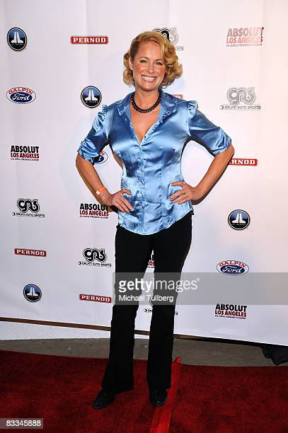 Actress Ami Dolenz arrives at the benefit grand opening of celebrity vehicle customization shop Galpin Auto Sports on October 18 2008 in Van Nuys...