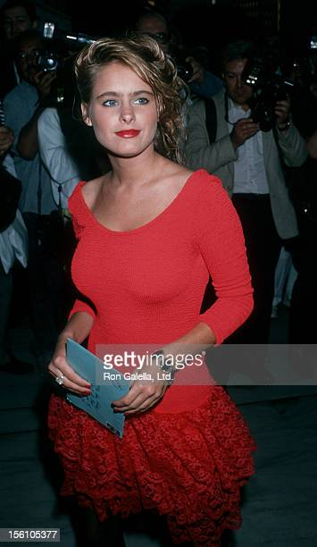 Actress Ami Dolenz attending 'ABC Affiliates Dinner' on June 14 1989 at the Century Plaza Hotel in Century City California