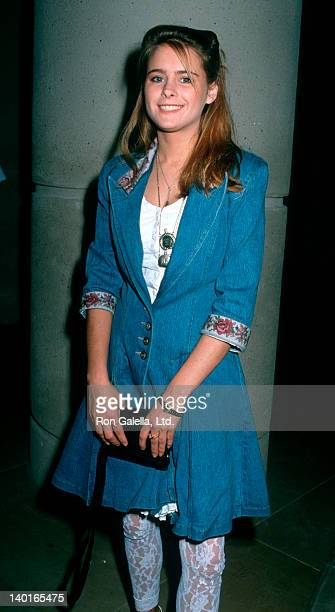 Actress Ami Dolenz attending Fourth Annual Genesis Awards on February 11 1990 at the Beverly Hilton Hotel in Beverly Hills California
