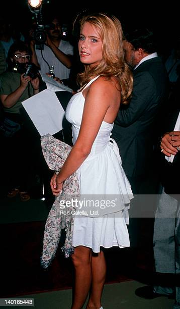 Actress Ami Dolenz attending 'Grand Opening of Manhattan West Restaurant' on August 4 1989 in Los Angeles California