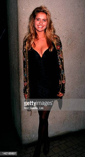 Actress Ami Dolenz attending 'Pacific Center Gala Honoring Elizabeth Taylor' on November 16 1991 at the Westin Bonaventure Hotel in Los Angeles...