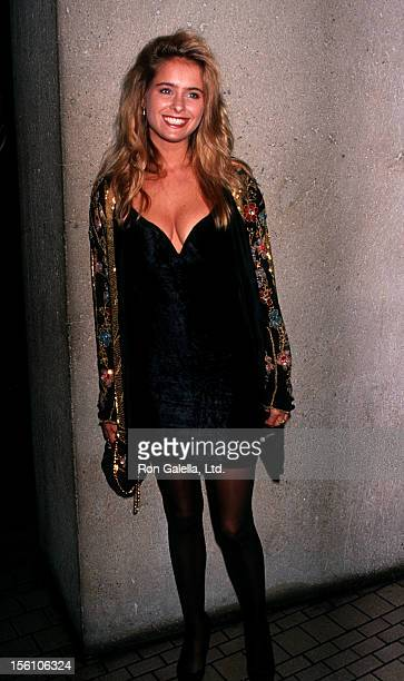 Actress Ami Dolenz attending Pacific Design Center Gala on November 16 1991 at the Westin Bonaventure Hotel in Los Angeles California