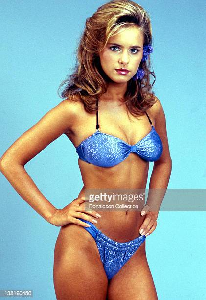 Actress Ami Dolenz poses for a portrait session wearing a bikini in July 1987 in Los Angeles California
