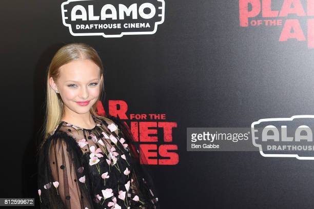 Actress Amiah Miller attends the 'War for the Planet Of The Apes' New York Premiere at SVA Theater on July 10 2017 in New York City