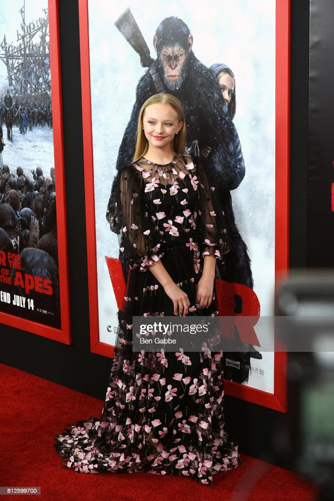 Actress Amiah Miller attends the 'War for the Planet Of The Apes' New York Premiere at SVA Theater on July 10, 2017 in New York City.