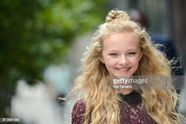 Actress Amiah Miller enters the 'AOL Build' taping at the AOL Studios on July 11 2017 in New York City