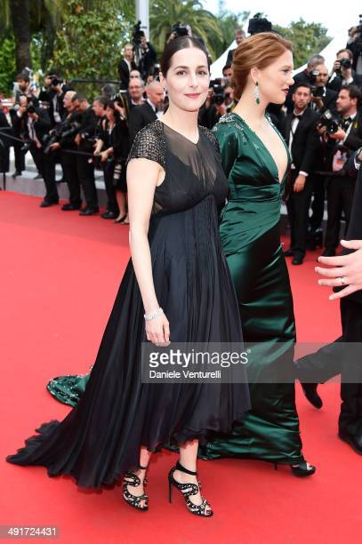 Actress Amira Casar and Lea Seydoux and attend the 'Saint Laurent' Premiere at the 67th Annual Cannes Film Festival on May 17 2014 in Cannes France