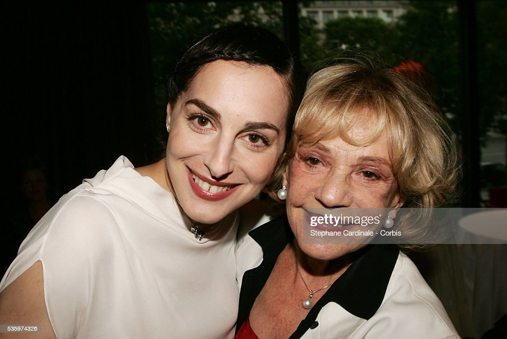 Actress Amira Casar (L) attends a gala event in honor of Jeanne Moreau at the Flora Danica restaurant in Paris.