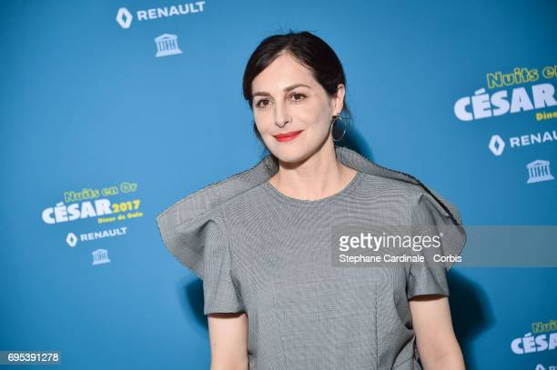 Actress Amira Casar attends 'Les Nuits en Or 2017' Dinner Gala at Unesco on June 12 2017 in Paris France