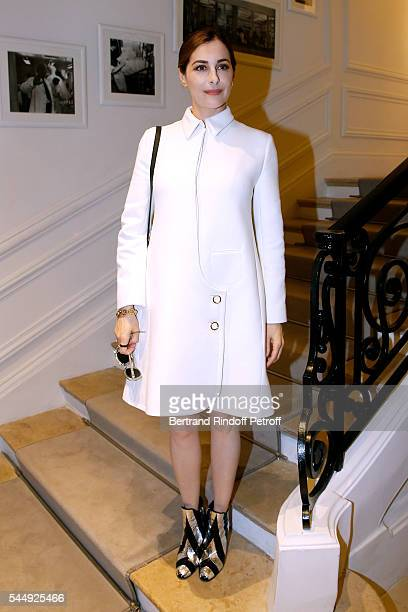 Actress Amira Casar attends the Christian Dior Haute Couture Fall/Winter 20162017 show as part of Paris Fashion Week on July 4 2016 in Paris France