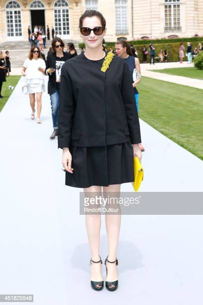 Actress Amira Casar attends the Christian Dior show as part of Paris Fashion Week Haute Couture Fall/Winter 20142015 Held at Musee Rodin on July 7...