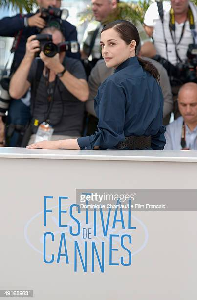 Actress Amira Casar attends the 'Saint Laurent' photocall at the 67th Annual Cannes Film Festival on May 17 2014 in Cannes France