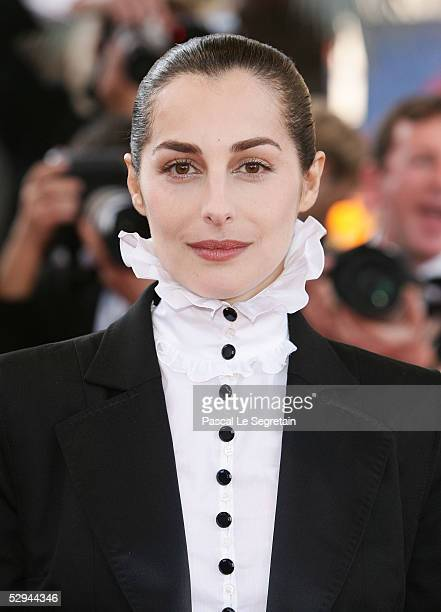 Actress Amira Casar attends the screening of Peindre Ou Faire L'Amour at the Palais during the 58th International Cannes Film Festival May 18 2005 in...