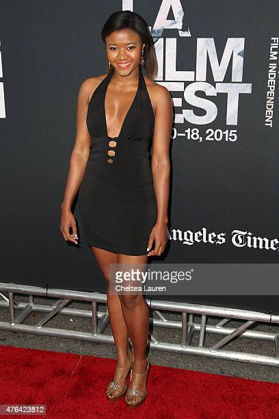 Actress Amira Lumbly arrives at the Los Angeles Film Festival premiere of 'Dope' at Regal Cinemas LA Live on June 8 2015 in Los Angeles California